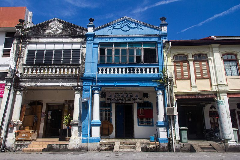 George Town, capitale de Penang en Malaisie