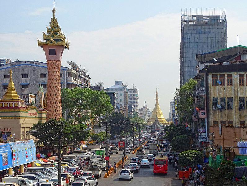 Yangon (Rangoon) capitale du Myanmar
