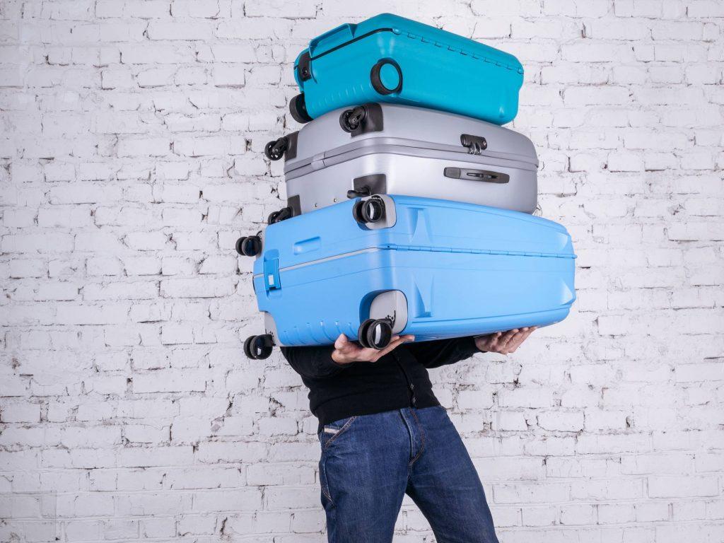 différentes tailles de sacs de voyage